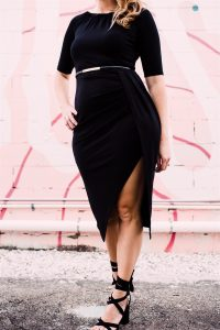 The little black dress for petite pears