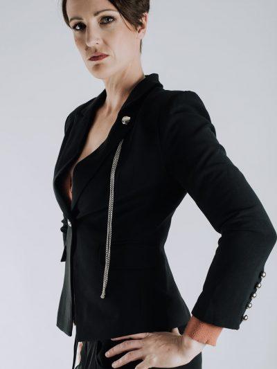 Love Your Curves Ladies Black Jacket