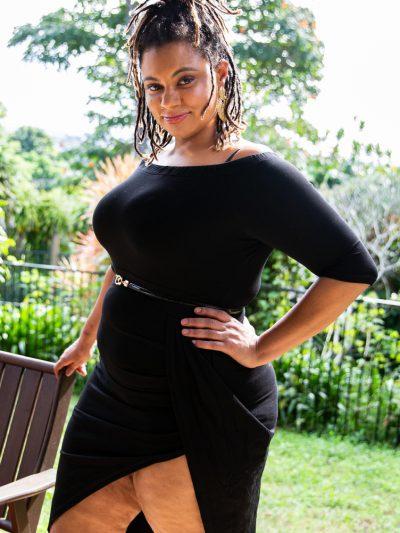 Plus Size Pear Little Black Dress for Women